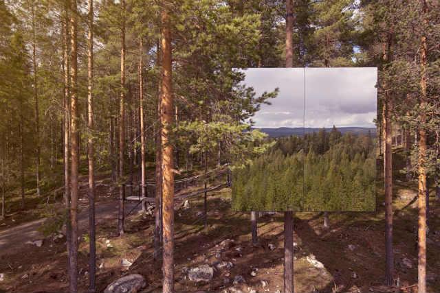 ツリーホテルtreehotel Mirrorcube (4)