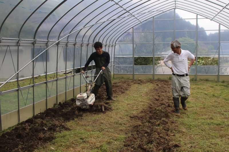 草刈機と耕運機を使いこなしてビニールハウスを耕す方法 (12)