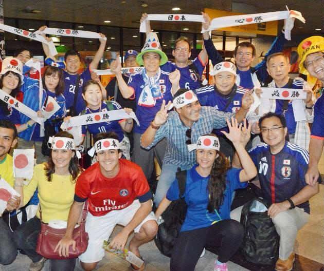ブラジルW杯日本初戦のコートジボワール戦「日の丸はちまき大作戦」結果報告 (1)