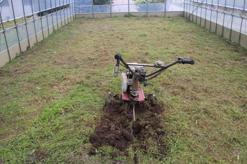 草刈機と耕運機を使いこなしてビニールハウスを耕す方法 (10)