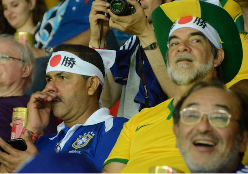 ブラジルW杯日本初戦のコートジボワール戦「日の丸はちまき大作戦」結果報告 (9)