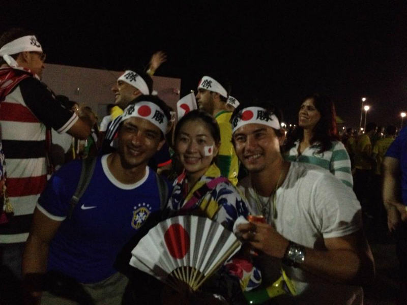 ブラジルW杯日本初戦のコートジボワール戦「日の丸はちまき大作戦」結果報告 (3)