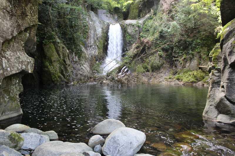 愛知県新城市作手の「鳴沢の滝」までサイクリングして泳いでみた! (7)