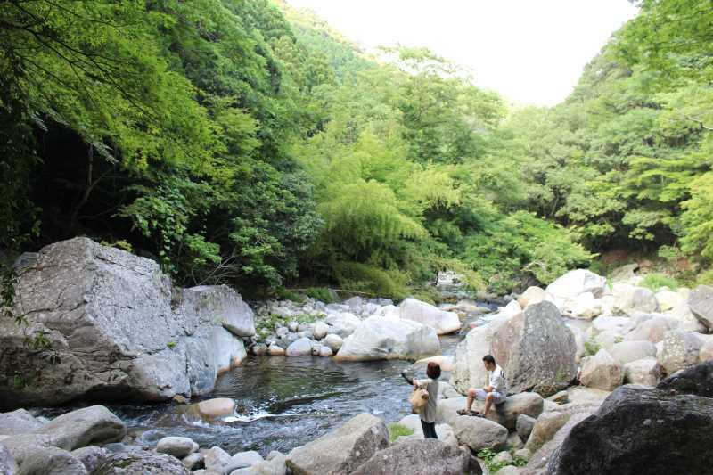愛知県新城市作手の「鳴沢の滝」までサイクリングして泳いでみた! (8)