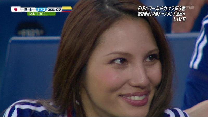 日本VSコロンビア戦のテレビに映った観客席にいた凄い美女