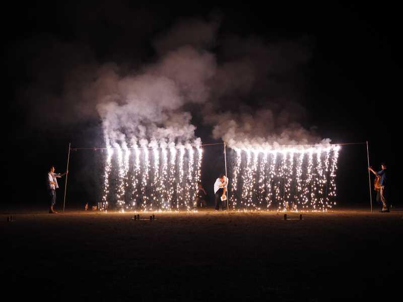 東京・浅草橋「長谷川商店」で購入した花火でミニ花火大会をやってみた! (11)