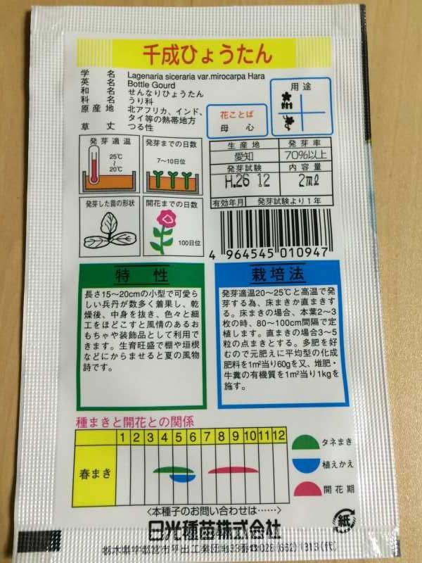 【珍しい野菜栽培】4.千成ひょうたん・特大ひょうたんとパクチーの種をゲット! (2)