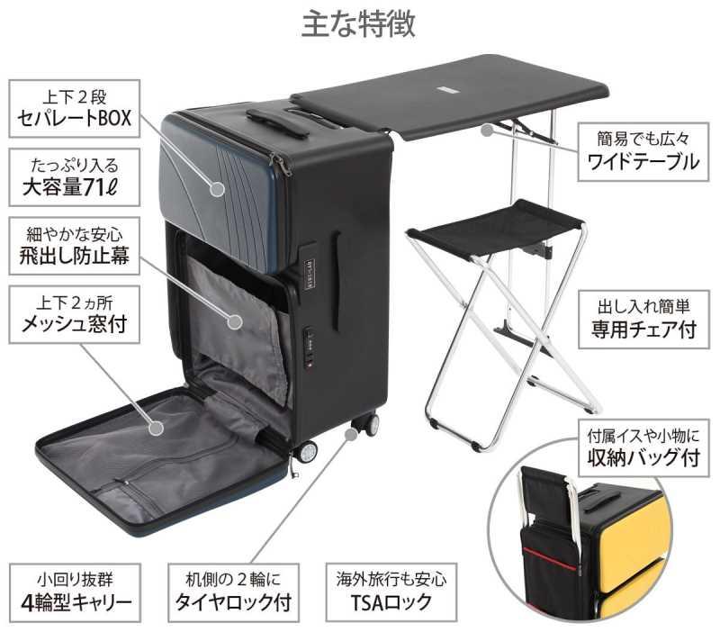 折りたたみデスクが内蔵されているスーツケースだと!?どこでもいつでもボードゲームできるぞ! (5)