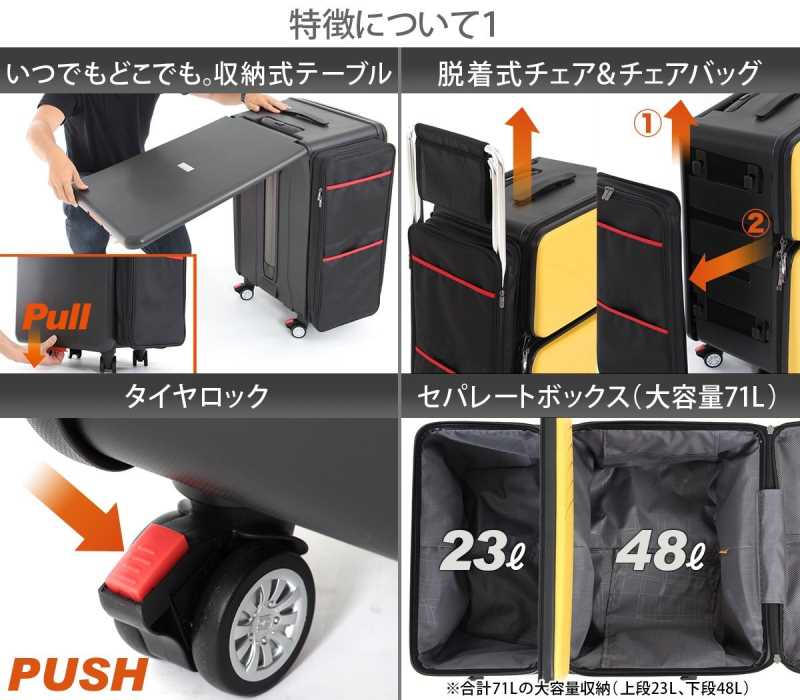 折りたたみデスクが内蔵されているスーツケースだと!?どこでもいつでもボードゲームできるぞ! (2)