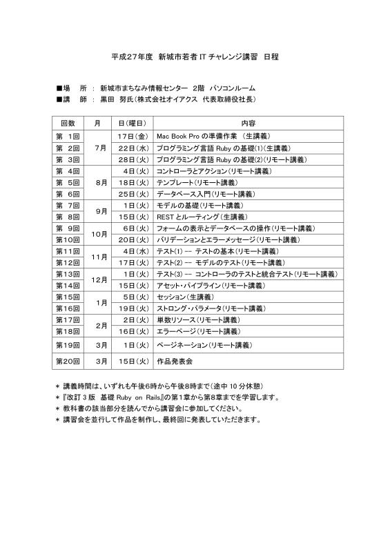 愛知県新城市限定!プログラミング言語「Ruby」の講習が無料で受けられるよ!