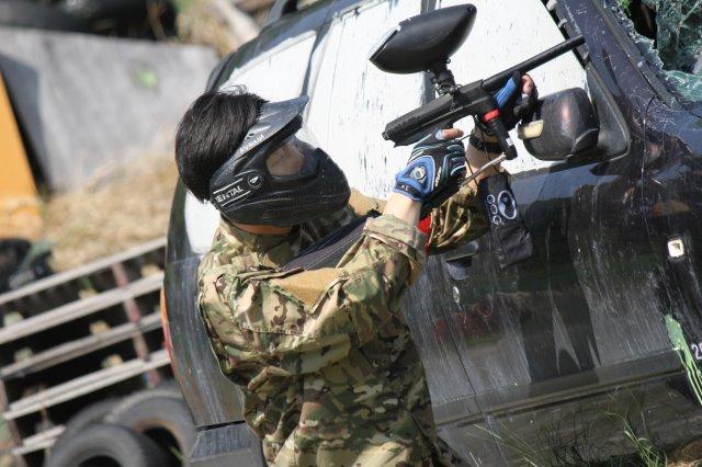 色つき銃のサバイバルゲームペイントボールが楽しすぎた!【名古屋近郊のサバゲー会場イナベ】 (4)