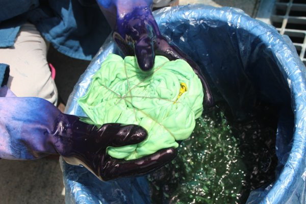 草木染め染色体験ふたたび。藍染めTシャツの作り方を研究してみたよ! (8)
