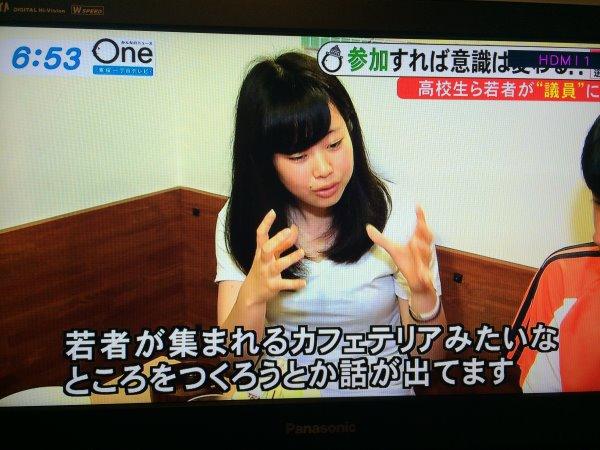 みんなのニュースOneに愛知県新城市若者議会が取り上げられました! (16)