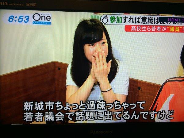 みんなのニュースOneに愛知県新城市若者議会が取り上げられました! (15)