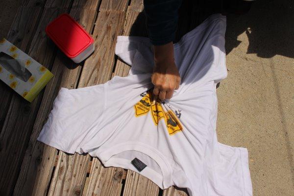 草木染め染色体験ふたたび。藍染めTシャツの作り方を研究してみたよ! (4)
